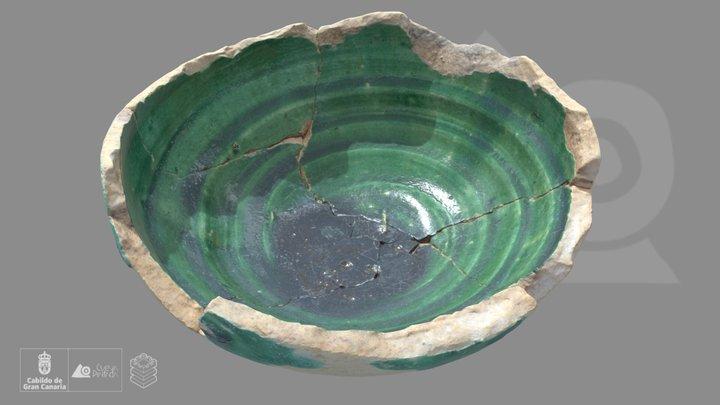 Escudilla de cerámica vidriada 3D Model