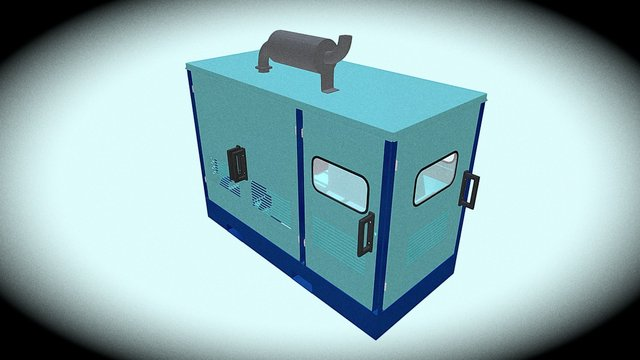 Contenedor Planta Electrica 3D Model