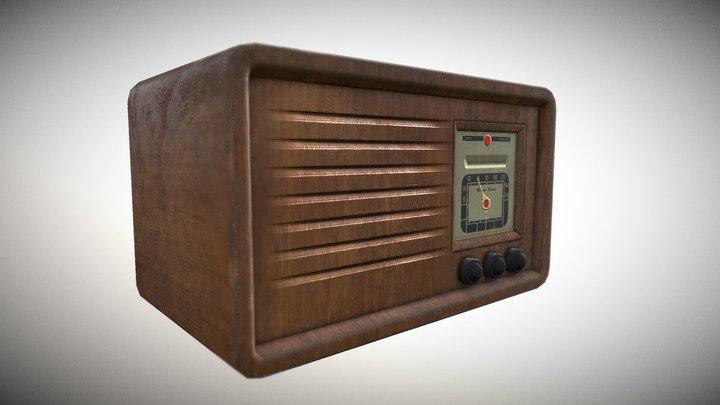 Vintage Style Wireless Radio 3D Model