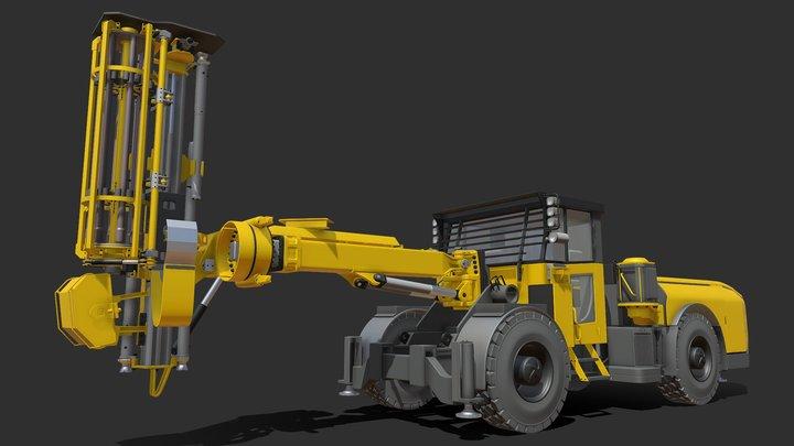 Epiroc Simba E7 Drill Rig 3D Model