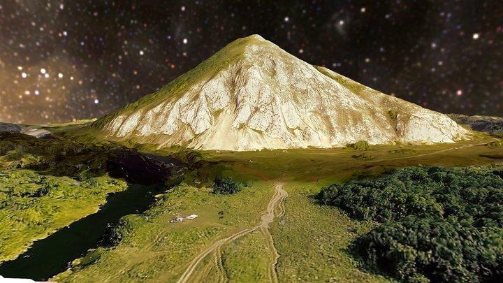 Mount Yuraktau (heart-mountain) 3D Model