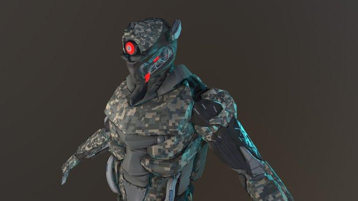 cyborg soldier v2 camo2 3D Model