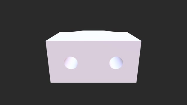 Half Brick With Hole 2 3D Model