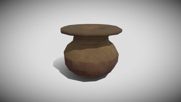 Low poly Pot 3D Model