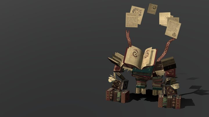 Book Golem (clean) 3D Model