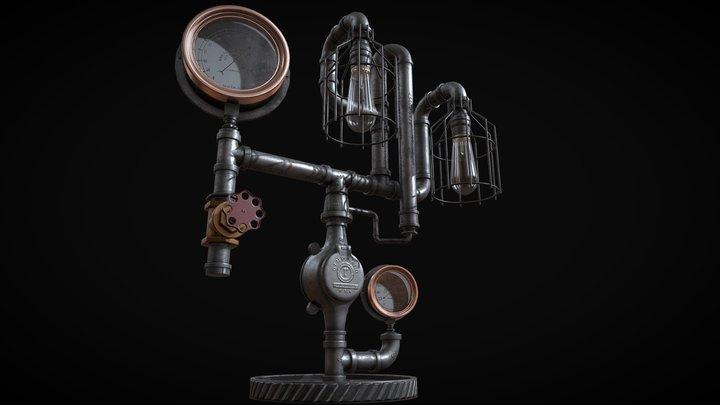 Machine Age Lamp 3D Model