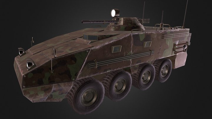 APC (Armored Personnel Carrier) 3D Model