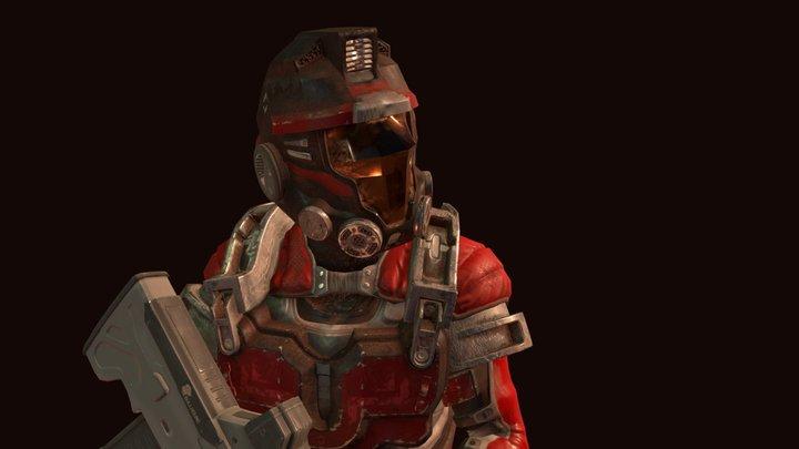 Scifi Soldier 3D Model