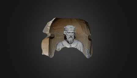 King Alfred Bust - Front Scan - Stowe House, UK 3D Model