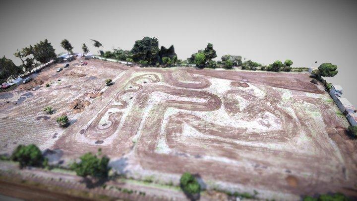 Pista de Motocross Racetrack - Drone Mapping 3D Model