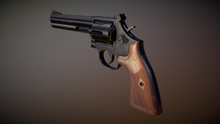 Smith and wesson 586 3D Model