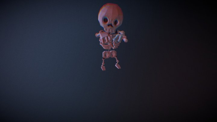 Diamond Teeth Skeleton 3D Model