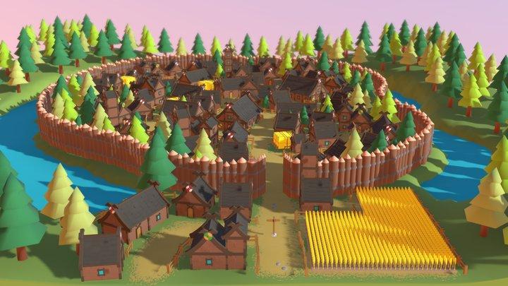 Nordic village - 3D Model