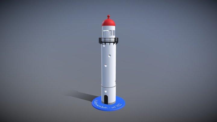 Vuurtoren Hellevoetsluis 3D Model