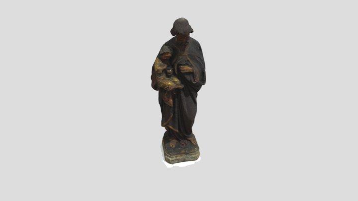Figura gipsowa św. Józef 3D Model
