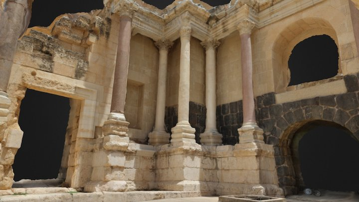 Beit She'an Theater Columns 3D Model