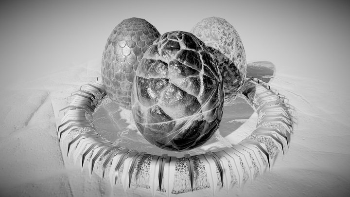 Dragon eggs - Inktober 3D Model