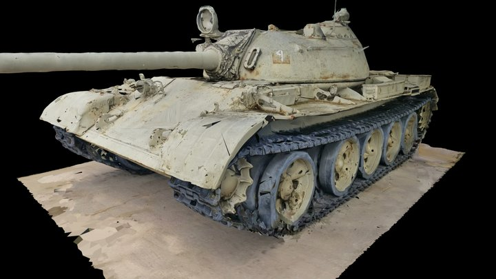 T-55 Raw Scan from Fort Hood Museum 3D Model