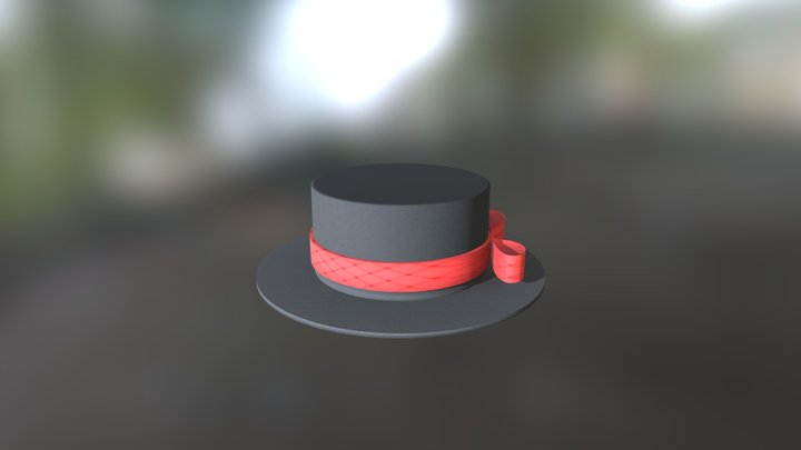 Silk Hat 3D Model