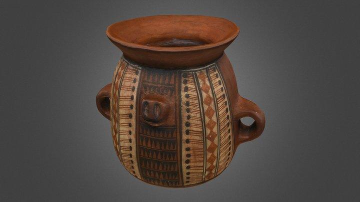 Inka style ceramic vessel 3D Model