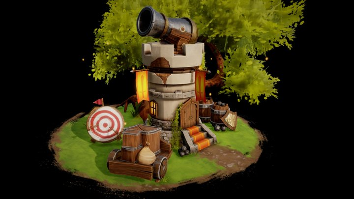 Tower Defence 3D Model