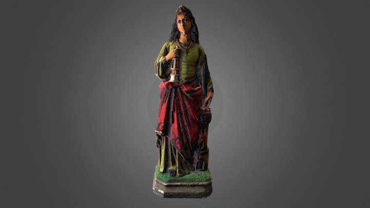 Plaster Statue of Saint Barbara 3D Model