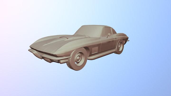 Chevrolet Corvette (C2) 1963 3D Model