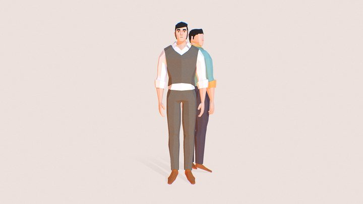 Hans | Lowpoly Character 3D Model