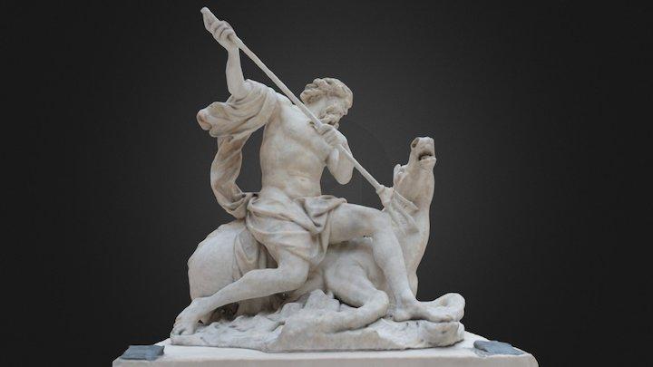 Neptune - Louvre Museum 3D Model