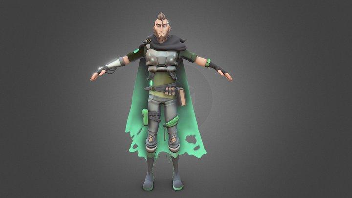 Rhyker - Fanmade Overwatch Hero 3D Model