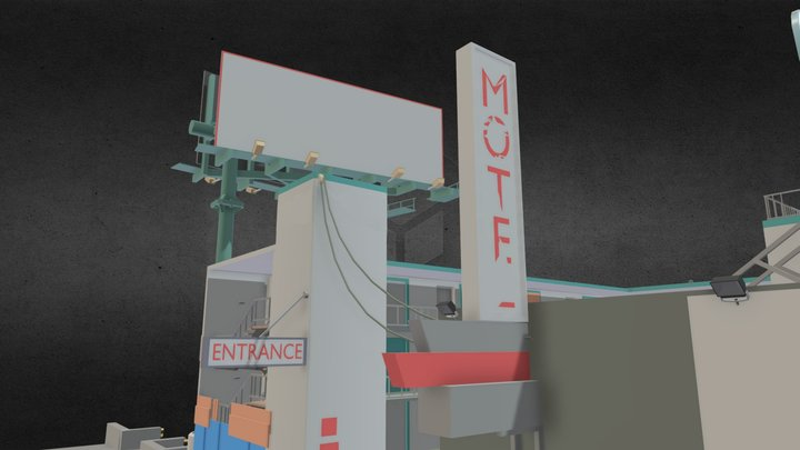 Old motel from Gta 5 3D Model