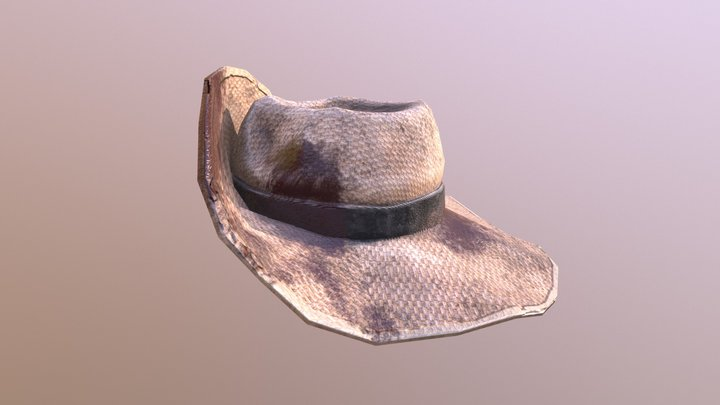 Spanish Colonial Straw Hat - Zombie Mode 3D Model