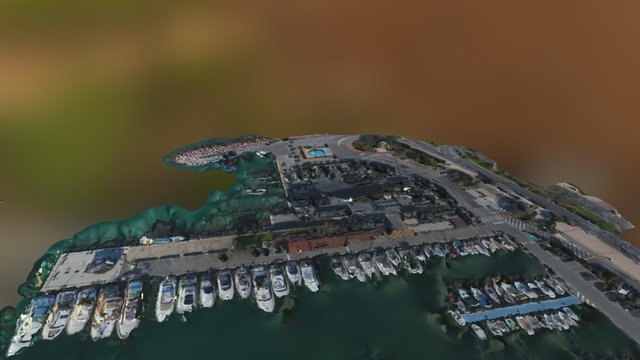 Port De Garavan Simplified 3d Mesh 3D Model