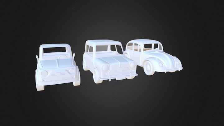 3 Toy Cars 3D Model