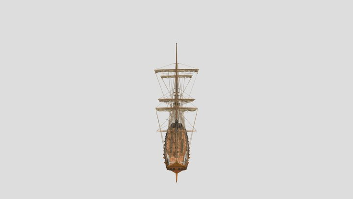 Swedish Turuma archipelago frigate 3D Model