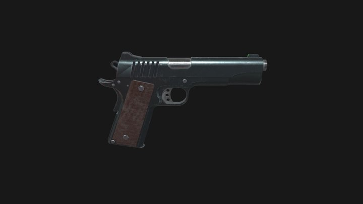 Low Poly M1911 3D Model