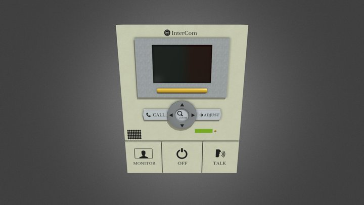 Intercom  GameReady - LowPoly with PBR Material 3D Model
