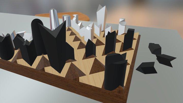 Notch Chess Set 3D Model