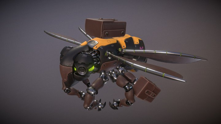 Bumble Bee Pollinator Drone 3D Model