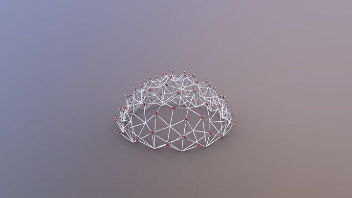 Parameric connection nodes for structures 3D Model