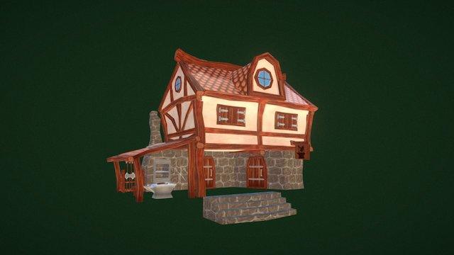 Stylised Blacksmith House 3D Model