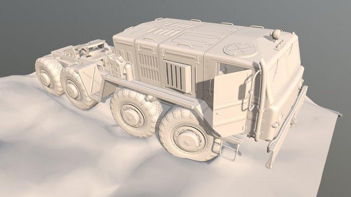 MAZ 537 wip 02 3D Model