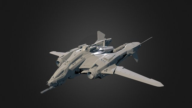 Aegis Dynamics Vanguard Harbinger 3D Model