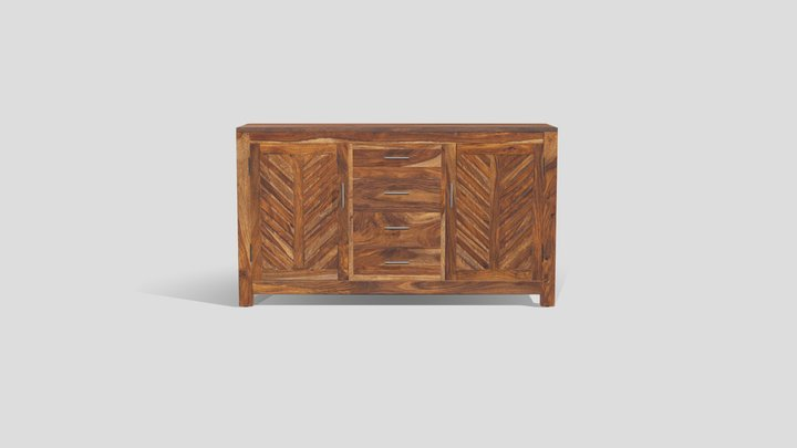 Pepperfry -Wood Sideboard_Use cases 3D Model