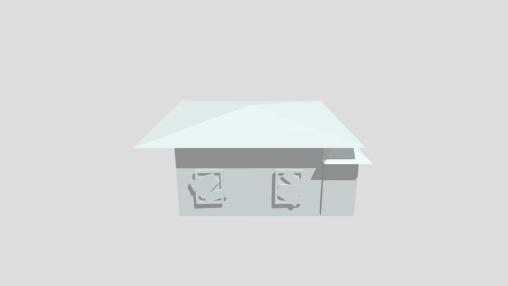 Old Low Poly House 3D Model