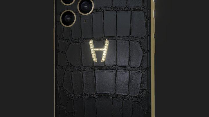 Hadoro iPhone 11 Pro | Alligator Diamonds 3D Model