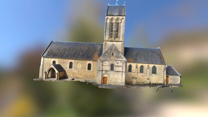 tilly sur seulles church, France 3D Model