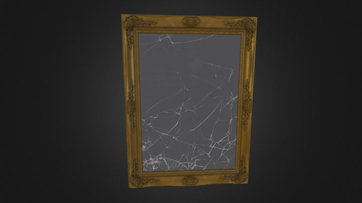 Ornate Mirror 3D Model