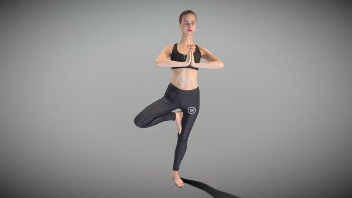 Woman practicing yoga 29 3D Model
