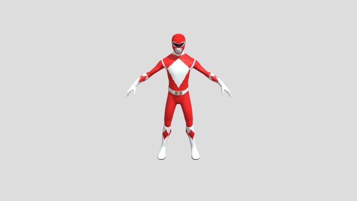 Power ranger Red (mighty morphin skin) 3D Model